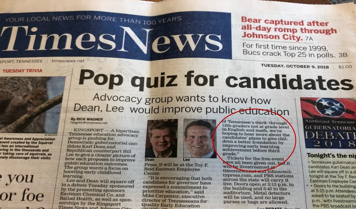 Pop Quiz for Gubernatorial Candidates